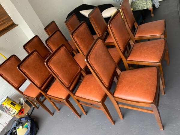 Fine Recover Leather Dining Chairs Walkers Furniture Restoration Uwap Interior Chair Design Uwaporg