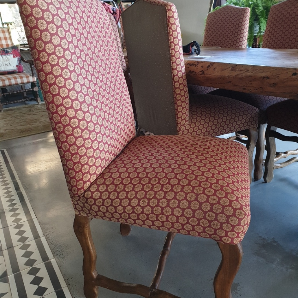 Before chairs reupholstered