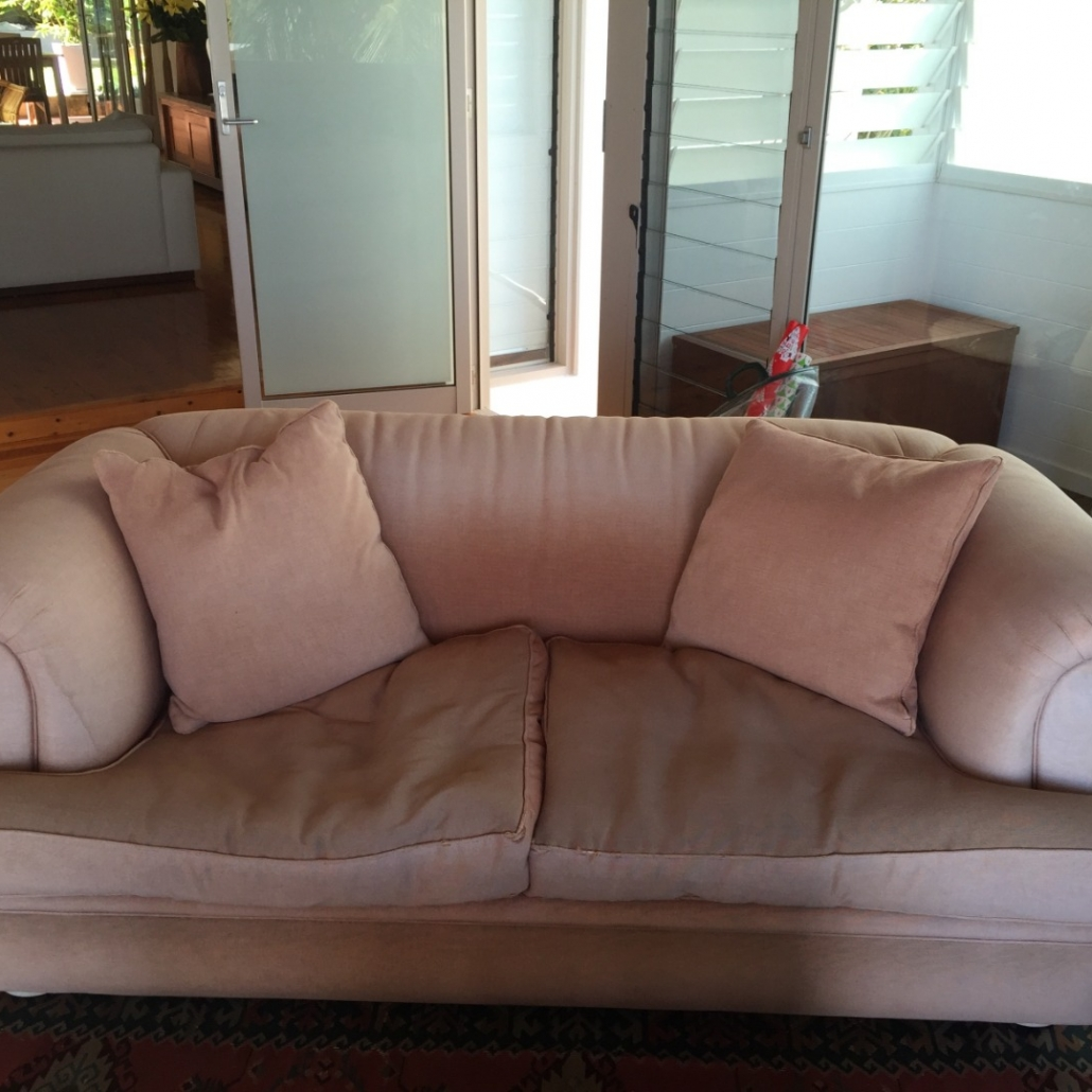 Before - Upholster Moran Lounge, convert from fabric to leather